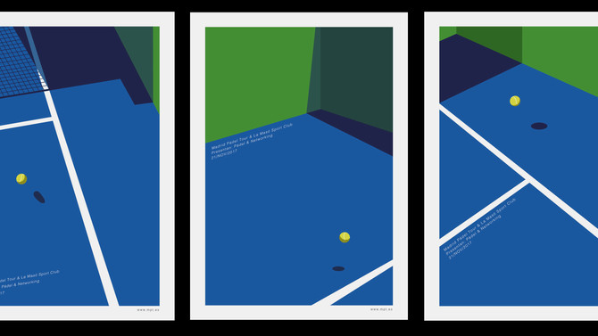Vectorial Illustrations for Padel Competition