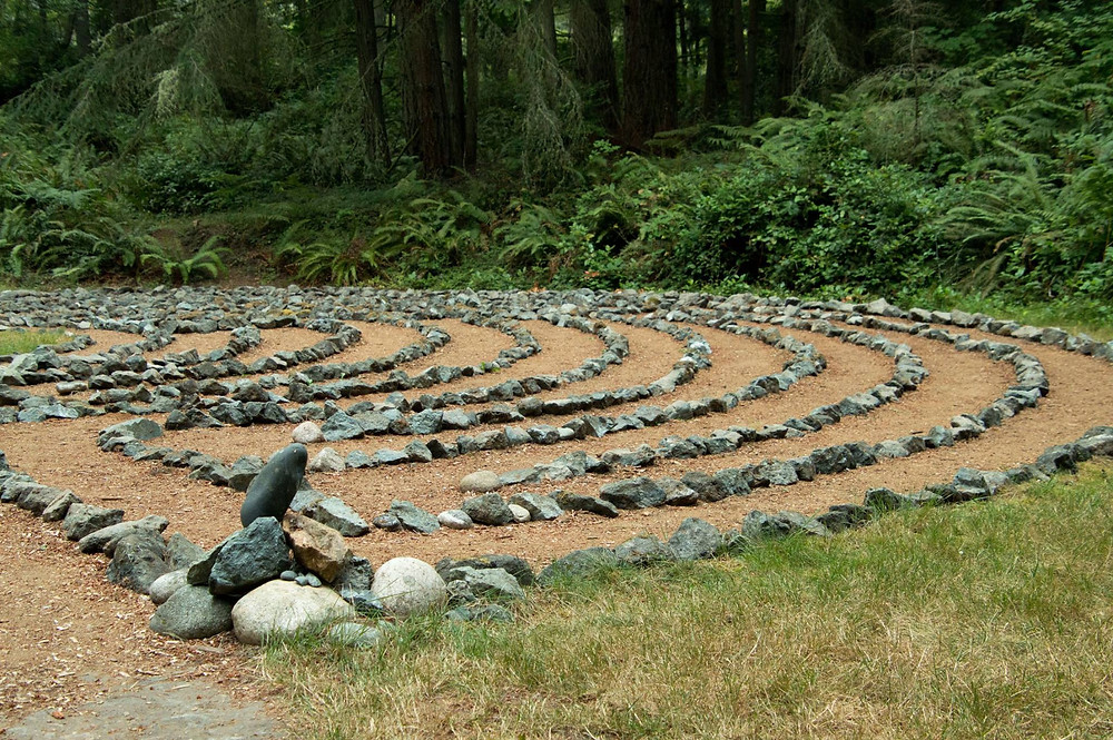 Whidbey Institute Labyrinth - Photo by Sharon Frank Wichman