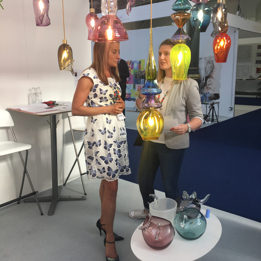 Talking about lighting at 100% Design show