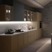 Under cabinet lighting can help create atmosphere