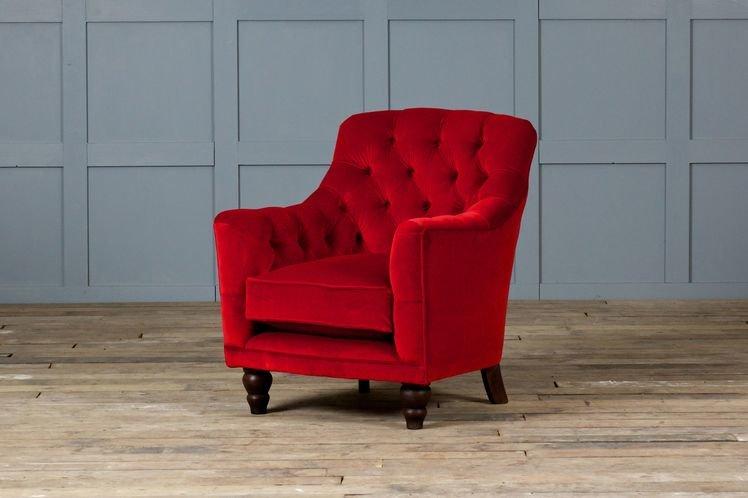 red velvet armchair