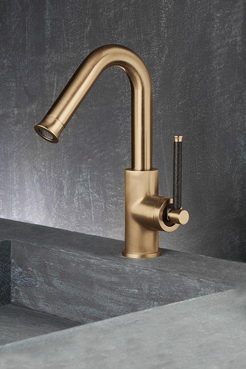 brass kitchen taps