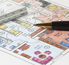 bigstockphoto_Colored_Plans_Of_Apartment