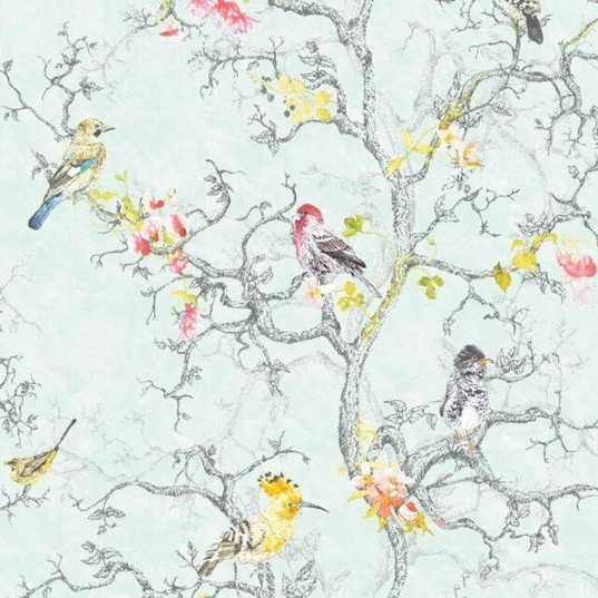 Lovely soft bird wallpaper - Gorgeous for a feature wall