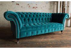teal velvet sofa
