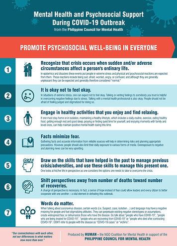 Promote Psychosocial Wellbeig in  Everyo