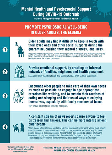 Promote Psychosocial Wellbeing in  Older