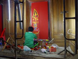 No comment - Le peintre de fresques murales.