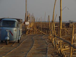 La traversée du pont en Bamboo de l'ile Ko Paen