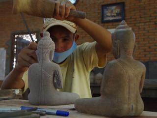 L'atelier de sculpture d'Artisans d'Angkor