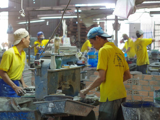 Visite d'une manufacture Vietnamienne - 2eme Partie: La naissance des carreaux-ciments