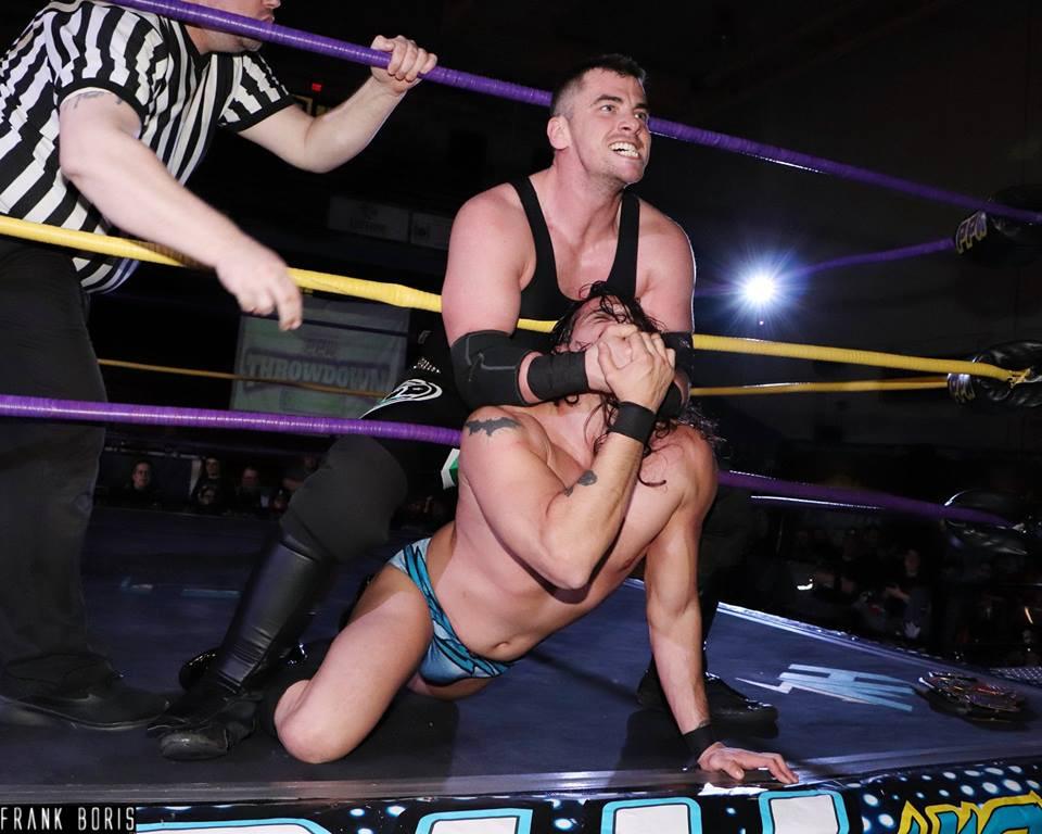 Carr choking Adams
