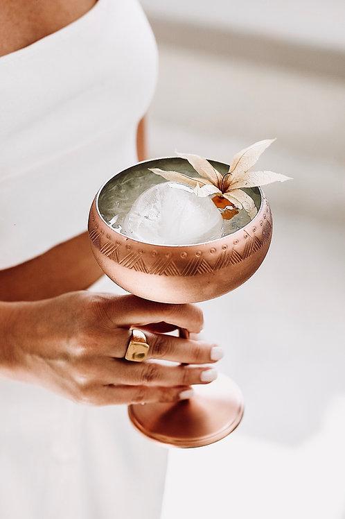 Telkari Bakır Martini Kadehi