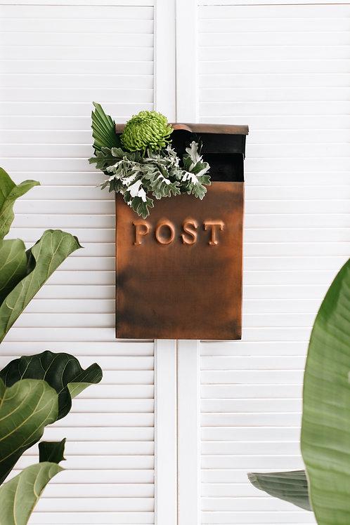 Antik Bakır Posta Kutusu