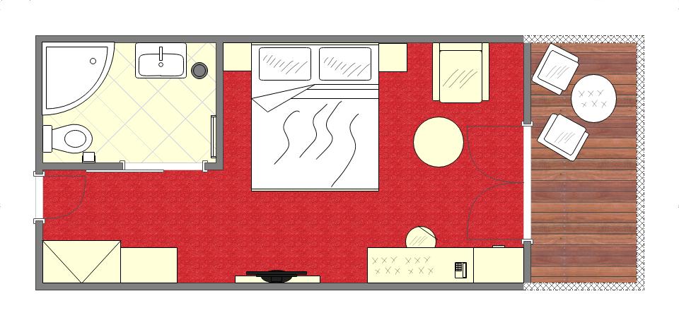 Grundriss Doppelzimmer deluxe