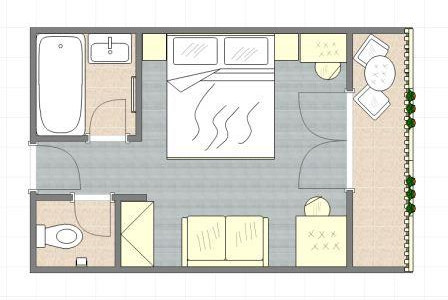 Grundriss Doppelzimmer ***Gästehaus