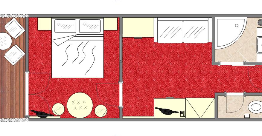Grundriss Familienzimmer im Haupthaus