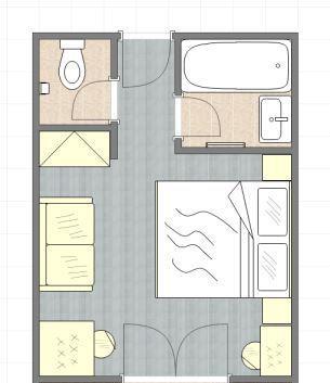 Gästehaus Doppelzimmer Grundriss