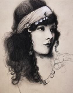 Portrait Fusain et pierre noire