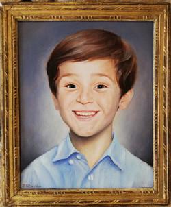 Portrait à l'huile 24x32 cm