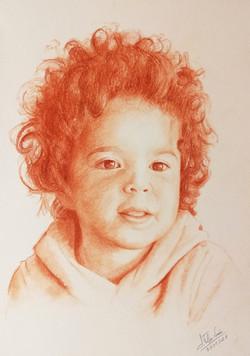 Portrait à la sanguine, format A4