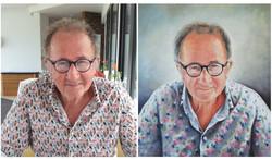Portrait à l'huile sur toile d'après photographie personnelle