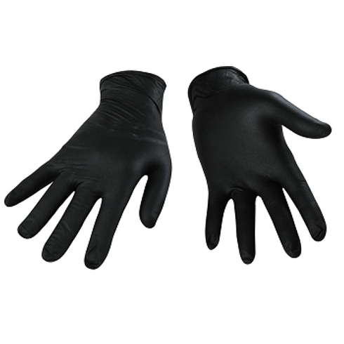 Disposable Nitrile Gloves Black (100 Pack)