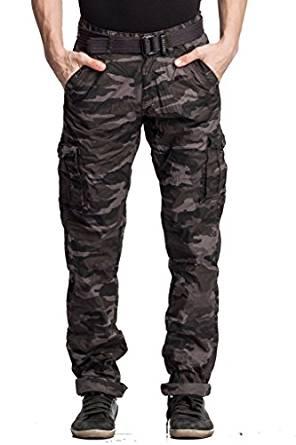 Beevee Men's Cotton Cargo Pants