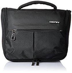 GEAR Polyester Black Toiletry Pouch