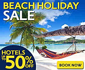 india and world beach holiday deals or sale on hotels and flights upto 50% discount at mercytrip