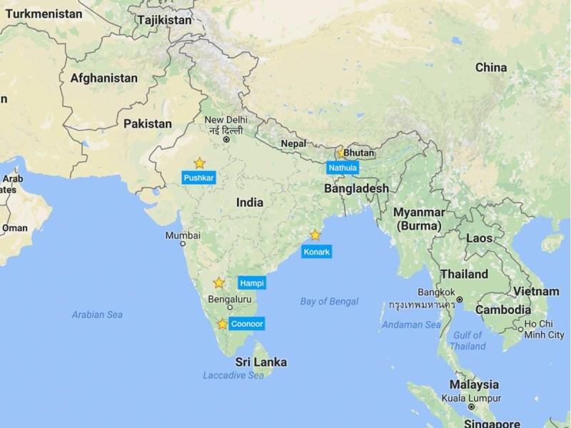 Winter in India, map  mercytrip.com