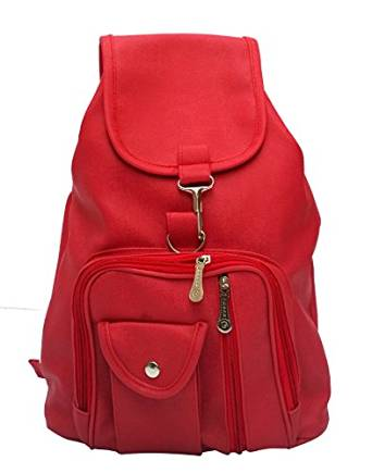 Vintage Girl's Backpack Handbag (Red