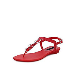 Get Glamr Women's Red Patent Materia