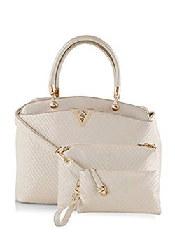 Mark & Keith Women Handbag White MBG