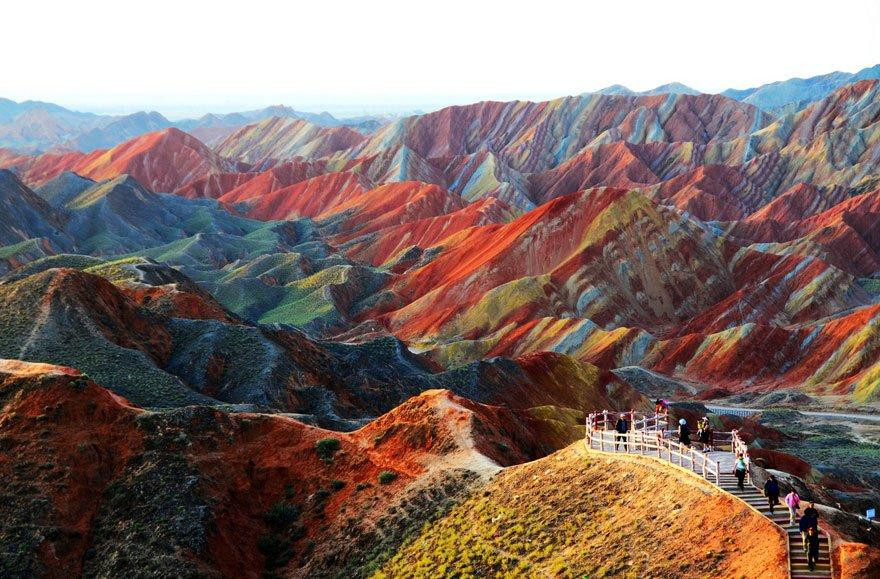 Rainbow Mountains, China    mercytrip.com