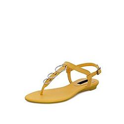 Get Glamr Women's Yellow Patent Mate