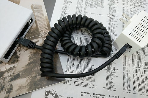 Curlynet Spiral-Coiled Ethernet Cable