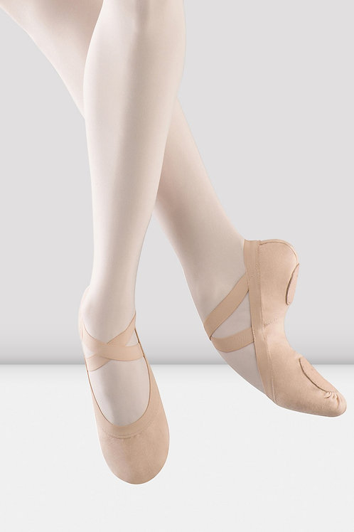Ladies BLOCH Pro Elastic Canvas Ballet Shoes