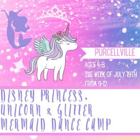 Disney princess, unicorn & Glitter merma