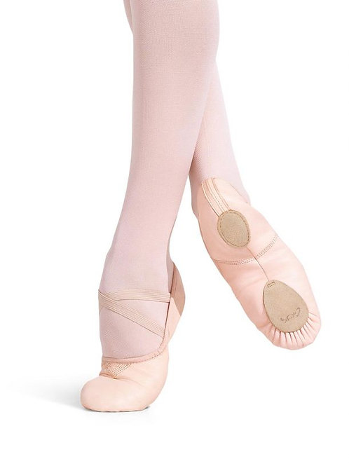 Ladies Capezio Slit-Sole Leather Cobra Ballet Shoes