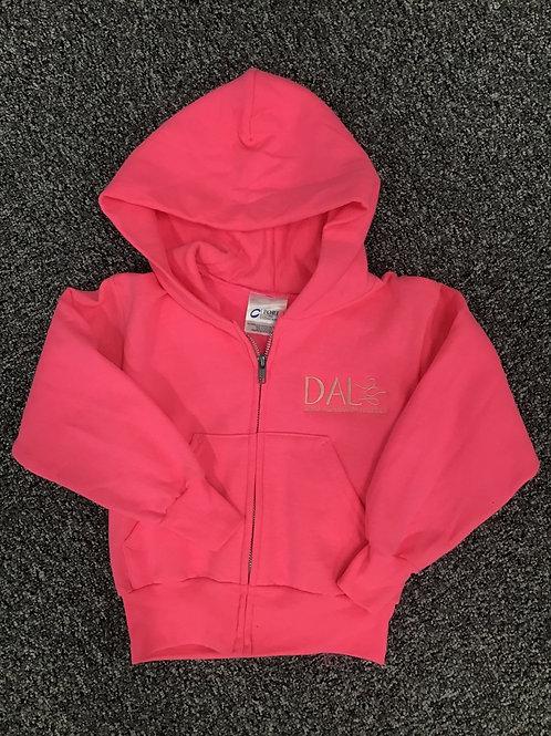 Dark Pink Full Zip DAL Hoodie
