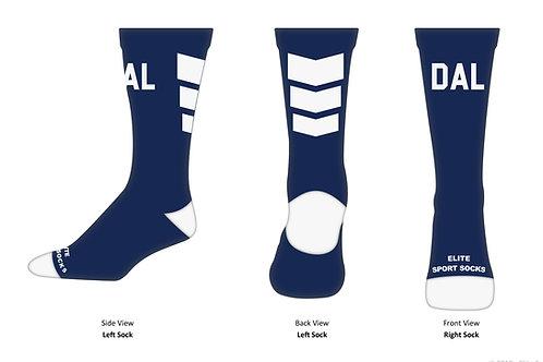 Navy Blue DAL Socks