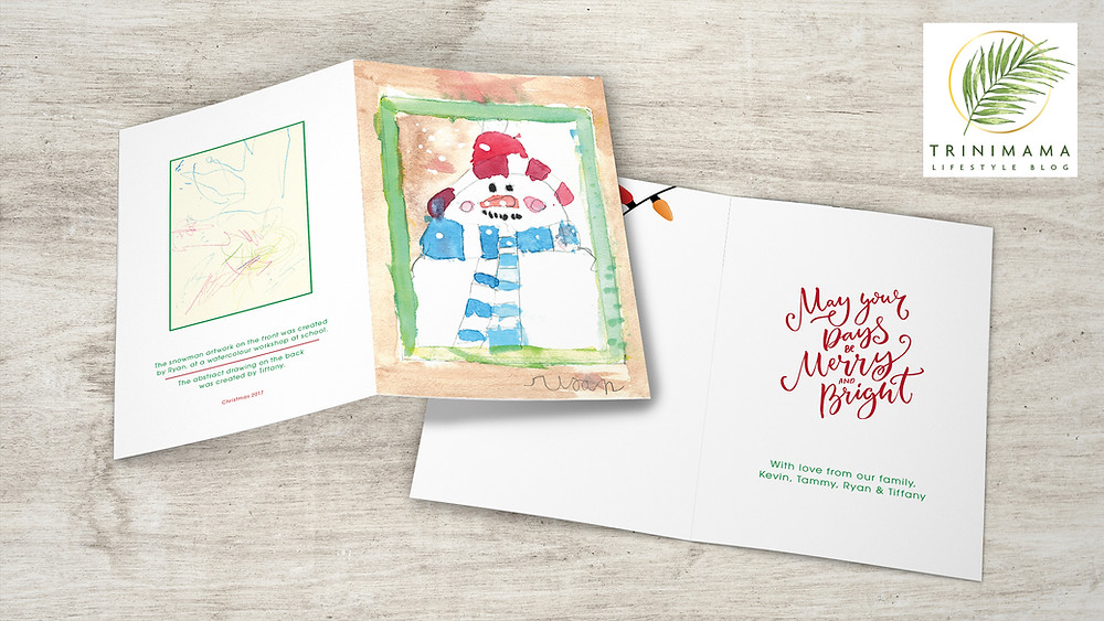 Easy Diy Kids Drawing Handmade Christmas Card Unique Clever Thoughtful Touching And Meaningful