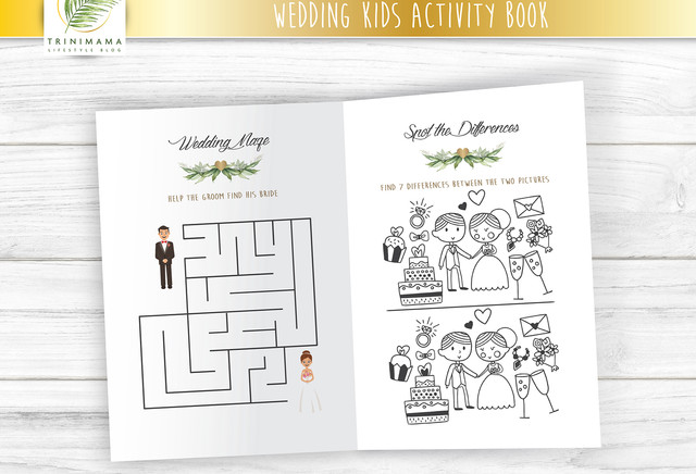 Wedding Day Kids Activity Books - Personalized, Printable, DIY