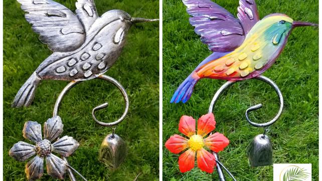Hummingbird Makeover - Garden Decor - DIY Painting