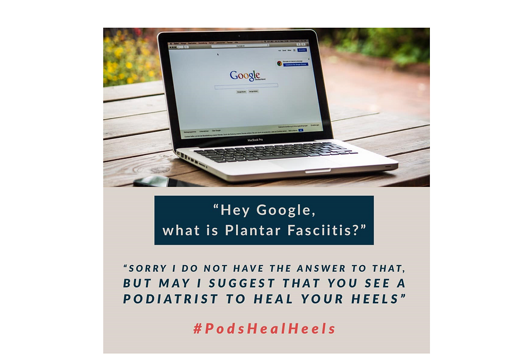 Googlge being asked what plantar fasciitis is