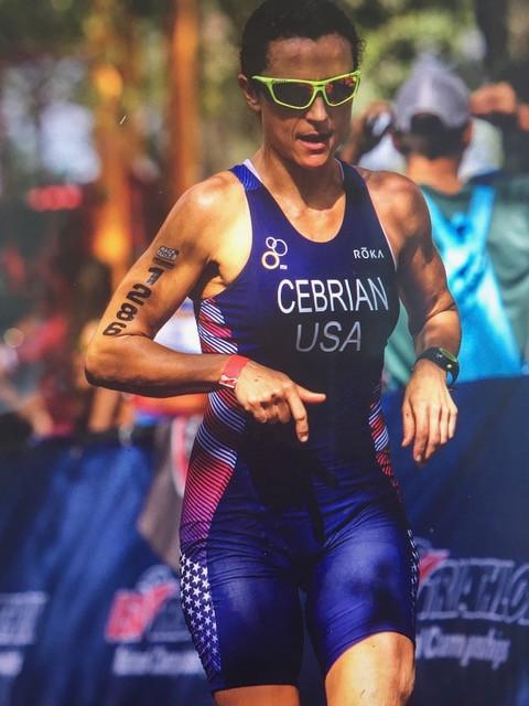 Marianna at World Championships for Aqua Bike
