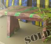 Timber Stool - Green Ripple