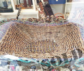 Cane and Fabric Basket
