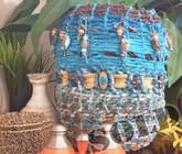 Boho Bowl - Aqua Beaded